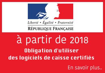 Loi 2018 - Caisse enregistreuse avec logiciel de caisse certifié