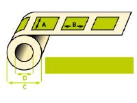 Rouleaux étiquettes thermique