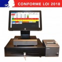 Pack caisse Enregistreuse tactile HP RP2 - TM-T20II - ECOPOS - Ultracaisse restaurant