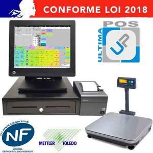 Caisse enregistreuse RP7800 avec balance connectée - Neuf